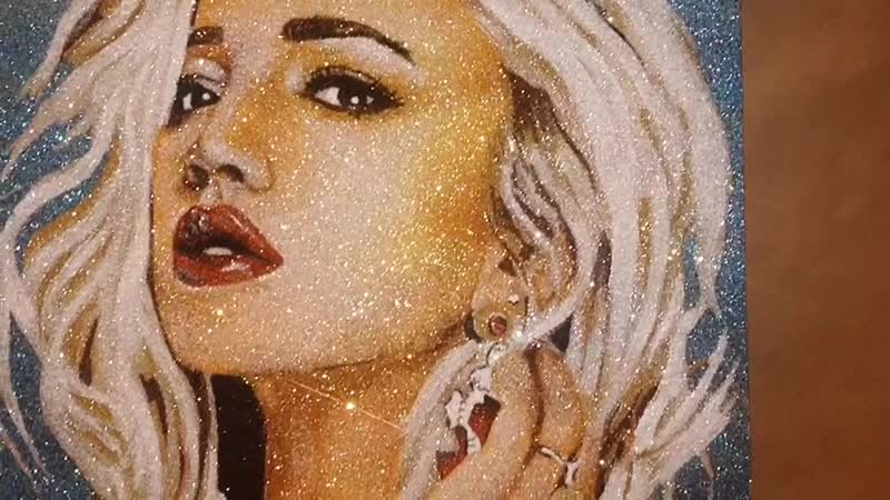 Luxury Glitter Artwork (30 hrs)| Time Lapse Video