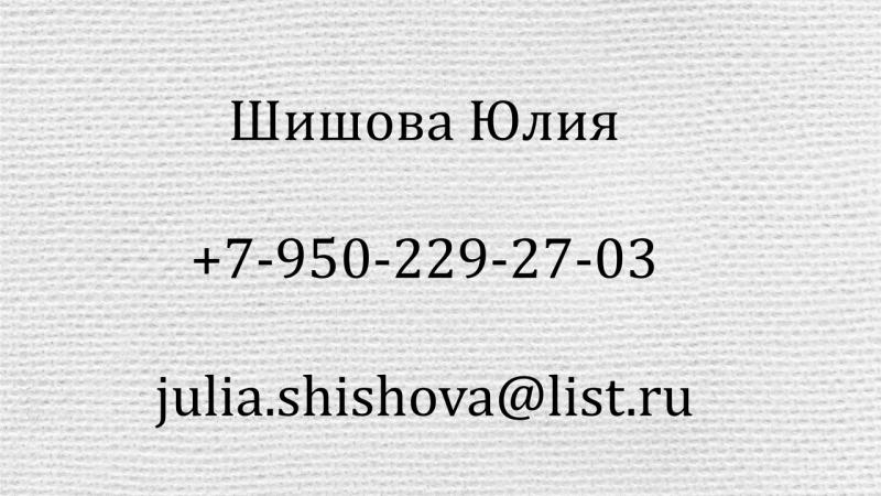 Визитка Шишова Юлия