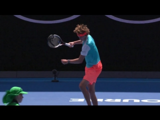 Zverev smashes his racquet and receives a warning