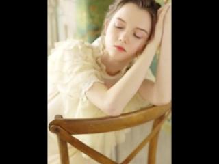 Spring Summer Original Design Women Victoria Royal Vintage Soft Lace Slim Large Hem Fairy Dresses