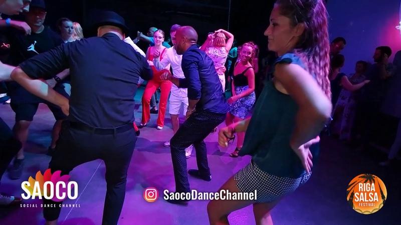 Rueda Dancing by Fadi, Tamba, Osbanis and Ladyes at Riga Salsa Festival 2018, Saturday 11.08.2018