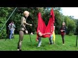 Аэройога (йога в гамаках) - Ирина Кривошей, monkey dance studio