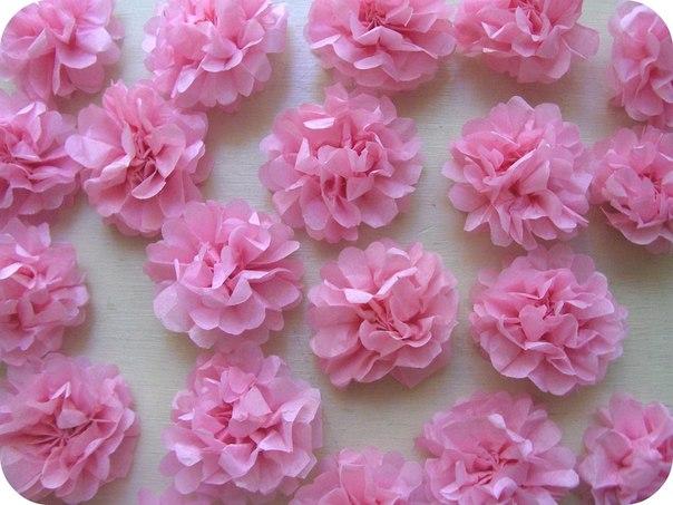 Цветы из салфеток картинки 7