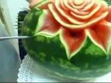 Цветок из арбуза