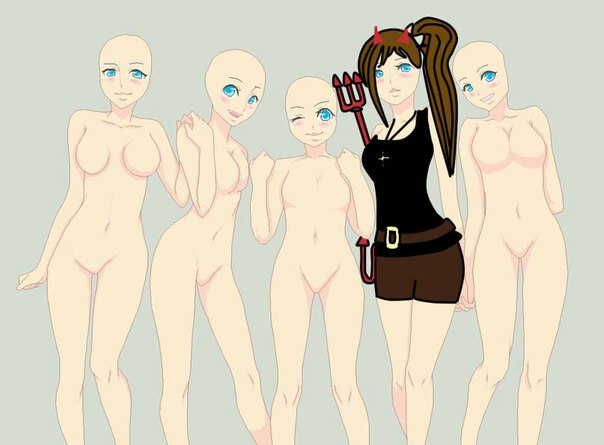 картинки аниме манекены: