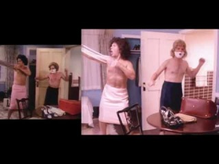 Side by Side of the Bosom Buddies intro and parody