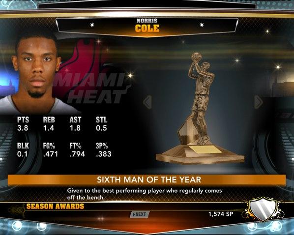 Лучший 6 игрок НБА2К13