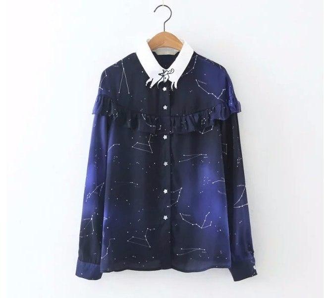 Рубашка с созвездиями -
