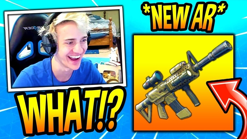 NINJA REACTS TO *NEW* THERMAL SCOPED ASSAULT RIFLE! *LEGENDARY* Fortnite SAVAGE FUNNY Moments