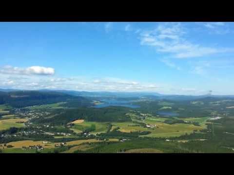 Helikopter tur over Steinkjer