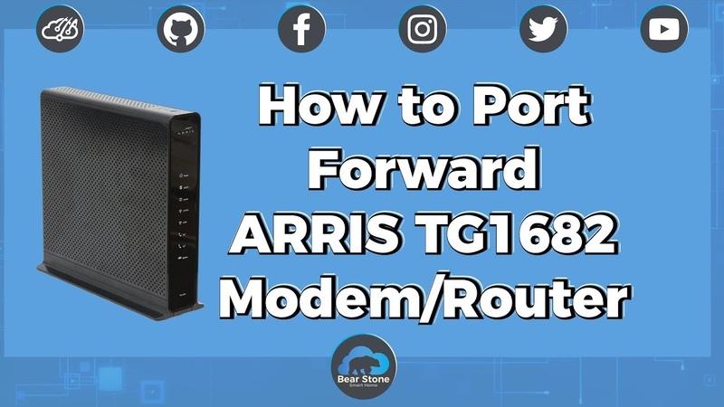 SSL Port Forwarding Home Assistant on the ARRIS TG1682 Modem/Router!