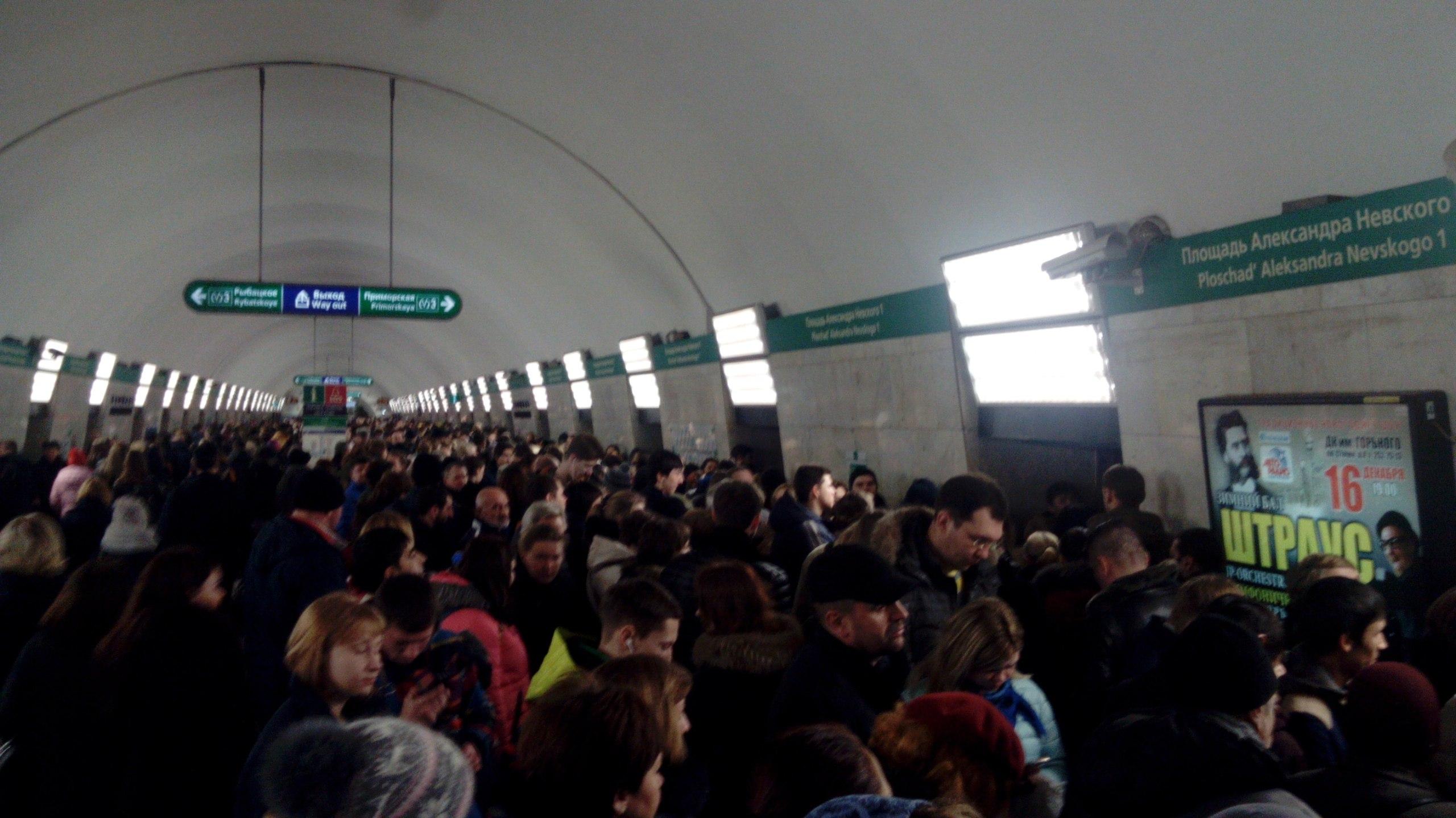 Пассажиры ломают двери новых красных поездов впетербургской подземке