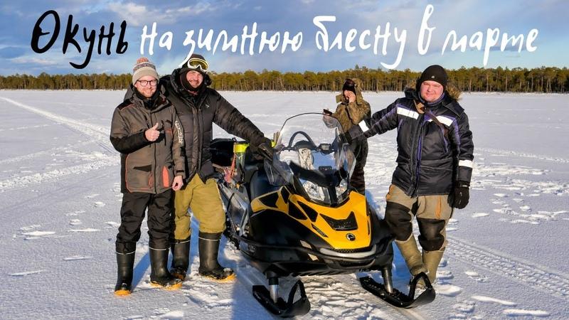 ОКУНЬ НА ЗИМНЮЮ БЛЕСНУ В МАРТЕ Последний лед 2019
