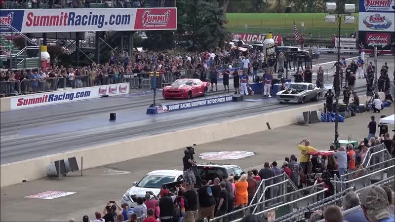 Fireball Camaro vs Megalodon at Norwalk Ohio No Prep Kings 2