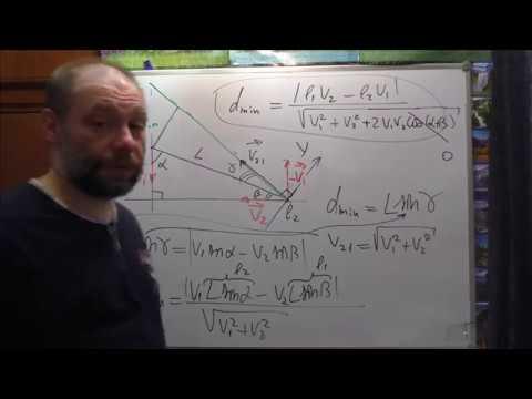 Физика. Урок № 9. Кинематика. Сближение. Общий случай. Ч.1. Наиболее простое решение.