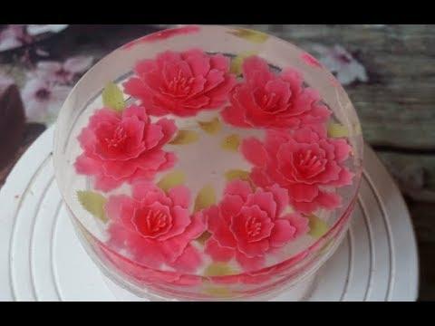 Gelatin art flowers compilation - 3D Gelatin art cake decorating