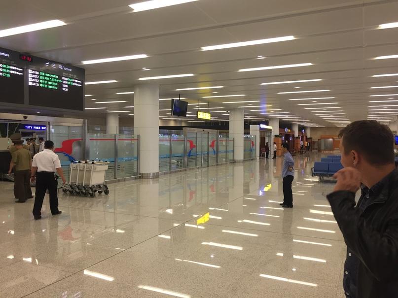 Отчет о путешествии в Северную Корею Аэропорт Пхеньяна