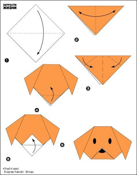 Схемы оригами с животными