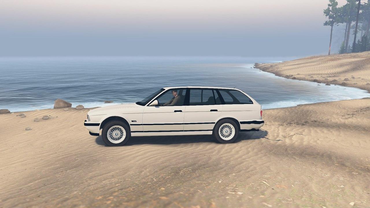BMW e34 525iX для 23.10.15 для Spintires - Скриншот 1