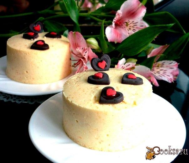 Очень приятный освежающий десерт, как само чувство влюбленных - нежное,с легкой горчинкой!