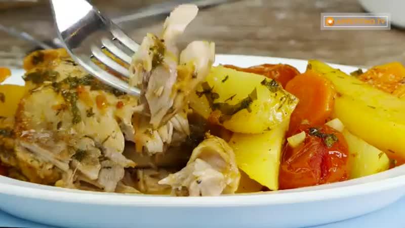Курица с овощами - так вкусно!