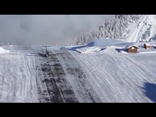 Посадка в одном из опасных аэропортов в мире, аэропорту Куршевеля