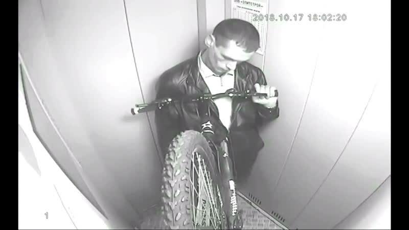 Кража велобайка в Оди