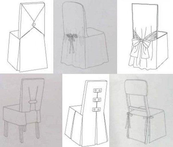 Как сшить чехол на стул своими руками фото