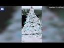 Видео: Китаянка из 40 мешков из-под цемента сшила себе свадебное платье