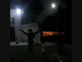 Метеорит над Венесуэлой и пожар в предполагаемой зоне падения, 9 февраля 2019.