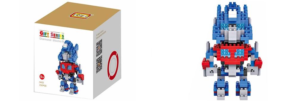 "Конструктор LOZ Diamond Block Gift Series ""Оптимус Прайм"" 9402"