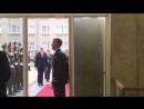 Встреча со Шведским консулом. Девушка в зелёном - наш Президент -