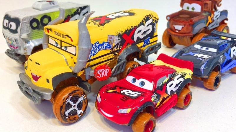 Cars Disney Pixar New Toys Xtreme Racing Series Mud Racing Lightning McQueen Jackson Storm