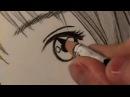 Как рисовать манга глаз. Линия за линией
