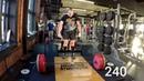 Сергей Дараган, Становая тяга одной рукой 240 кг