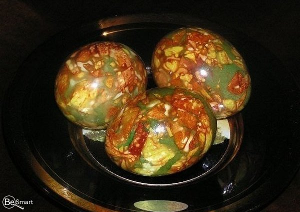 Яйца Мраморные. Оригинальный способ покраски яиц