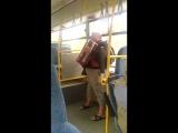 Пассажир автобуса с гармошкой. Архангельск.