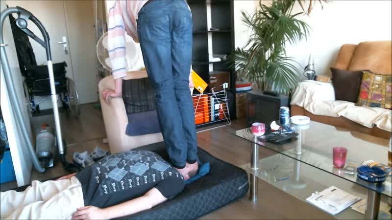 Trampling Face in Smelly black-socks,Tall Straight-guy 180 lbs.-Shoesize 13 usa.