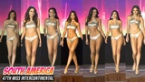 Team SOUTH AMERICA in Swimsuit Competition of 47th Miss Intercontinental 2019