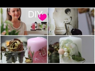 Декупаж свечи из подручных материалов ♥ Оригинальный подарок или создаем уют
