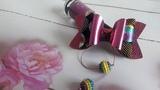 Бантик из эко-кожи в стиле диско канзаши мк