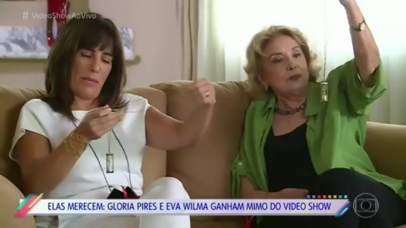 Vídeo Show: Glória Pires e Eva Wilma relembram Mulheres de Areia.