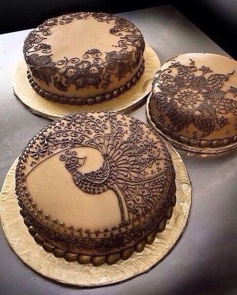 Узорные торты