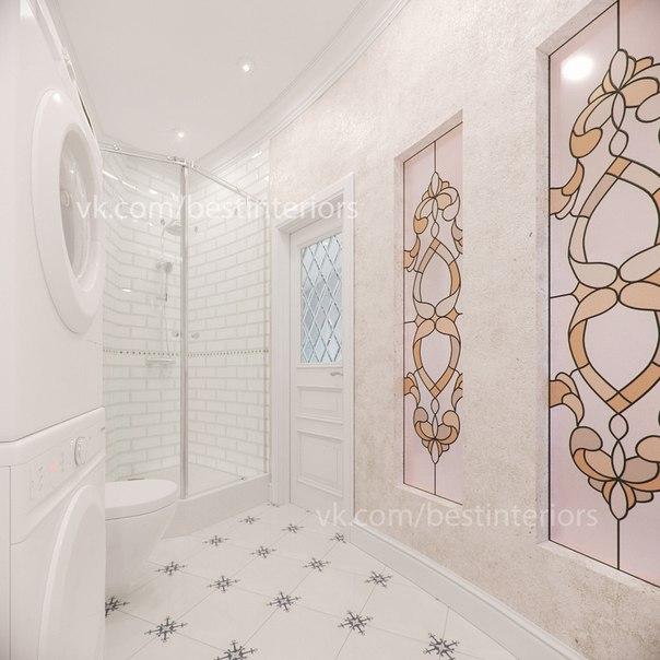 Ванная комната в загородном доме