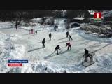 Энтузиасты из двух деревень Минского района строят каток и футбольную площадку. Панорама