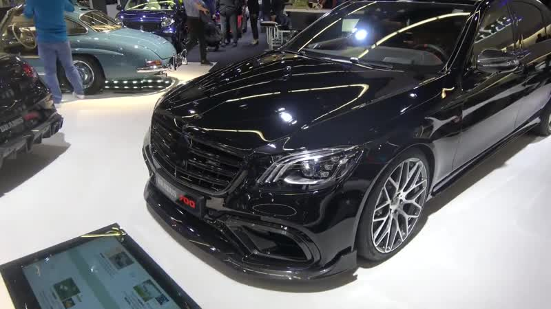 Brabus 700 FACELIFT Mercedes S63 W222 in black with Brabus interior Looks so cl