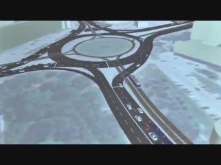 На Пушкарёвском кольце установить светофоры, уменьшить количество маршрутов по городу, обн