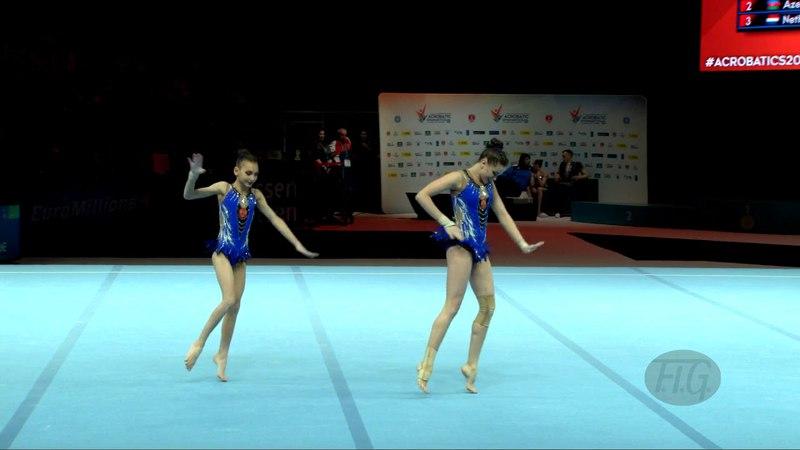 Russian Federation (RUS) - 2018 Acrobatic Worlds, Antwerpen (BEL) - Dynamic Women's Pair