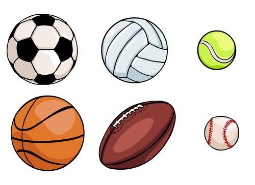 Мячики нарисованная картинка