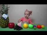 Изучаем вместе с Машей фрукты, овощи и цвета!!! Learn COLORS!!!
